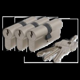 Cilinderslot Abus E60 SKG2 dubbele cilinder gelijksluitend (3x)