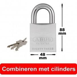 Abus Hangslot 83/50 (SKG2) combineren met cilinders