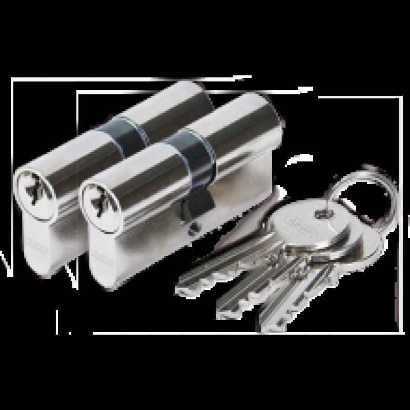 Cilinderslot Abus E50 dubbele cilinder gelijksluitend (2x)