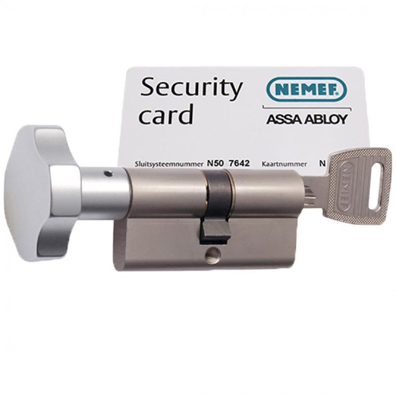 Cilinderslot Nemef NF3 133/9 knopcilinder SKG3