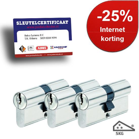 Afbeelding van Cilindersloten Vitess SKG3 met certificaat gelijksluitend 3x