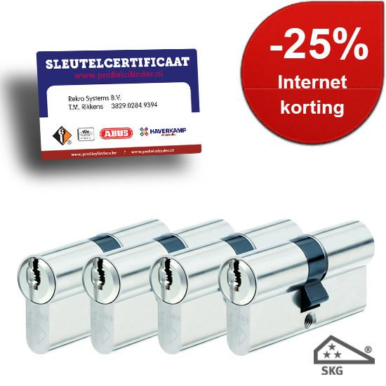 Afbeelding van Cilindersloten Vitess SKG3 met certificaat gelijksluitend 4x